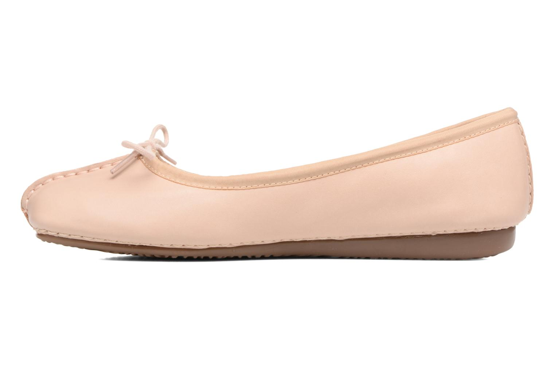 Bailarinas Clarks Unstructured Freckle Ice Rosa vista de frente