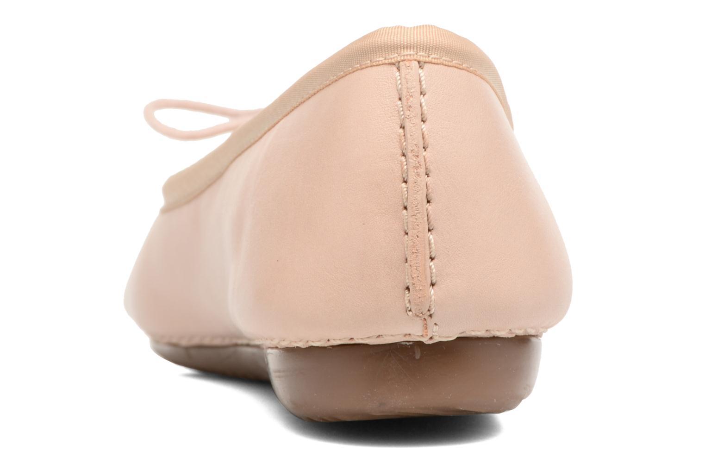 Bailarinas Clarks Unstructured Freckle Ice Rosa vista lateral derecha