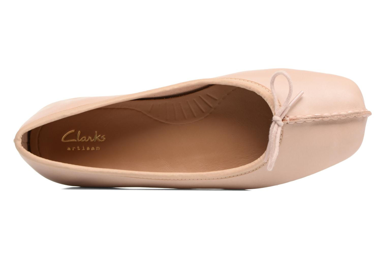 Bailarinas Clarks Unstructured Freckle Ice Rosa vista lateral izquierda