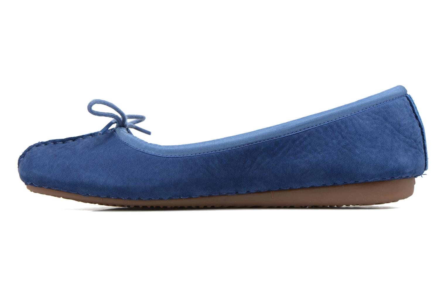 Ballet pumps Clarks Unstructured Freckle Ice Blue front view