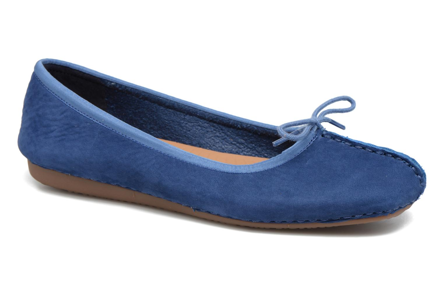 Ballet pumps Clarks Unstructured Freckle Ice Blue detailed view/ Pair view