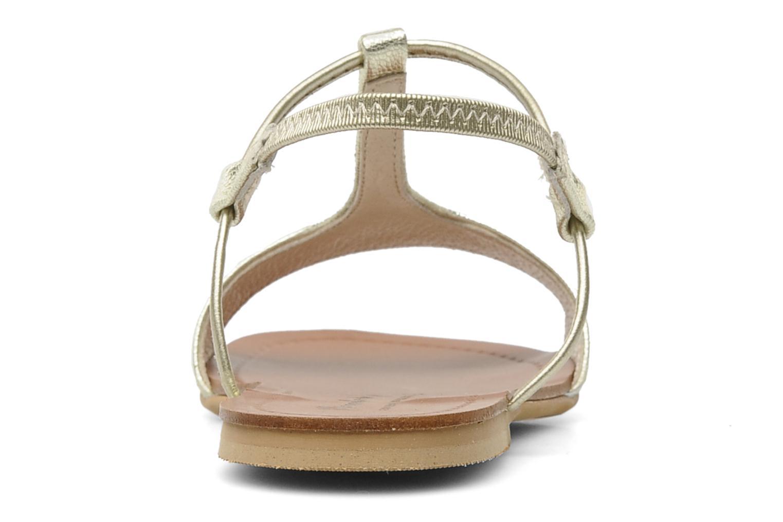 Sandali e scarpe aperte Manuela de Juan Mikonos Oro e bronzo immagine destra