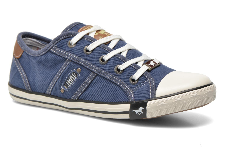 Baskets Mustang shoes Flaki Bleu vue détail/paire