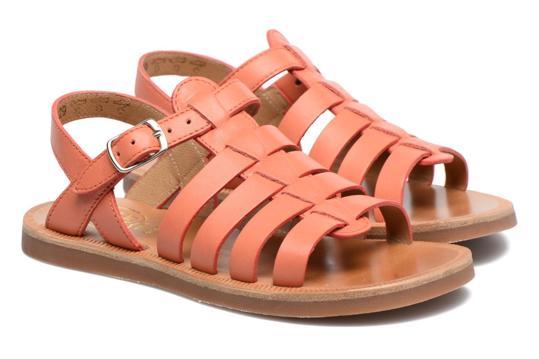 Sandals Pom d Api Plagette Strap Pink 3/4 view