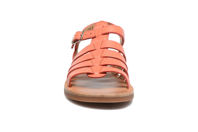 Sandales et nu-pieds Pom d Api Plagette Strap Rose vue portées chaussures