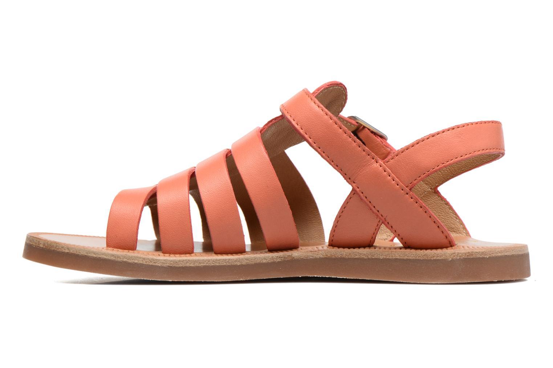 Sandals Pom d Api Plagette Strap Pink front view