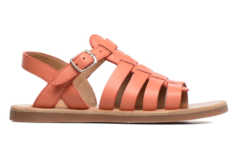 Sandales et nu-pieds Pom d Api Plagette Strap Rose vue derrière