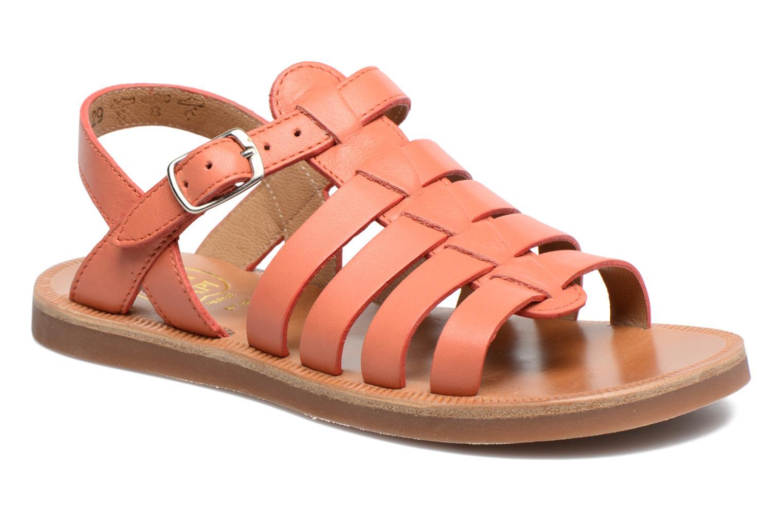 Sandals Pom d Api Plagette Strap Pink detailed view/ Pair view