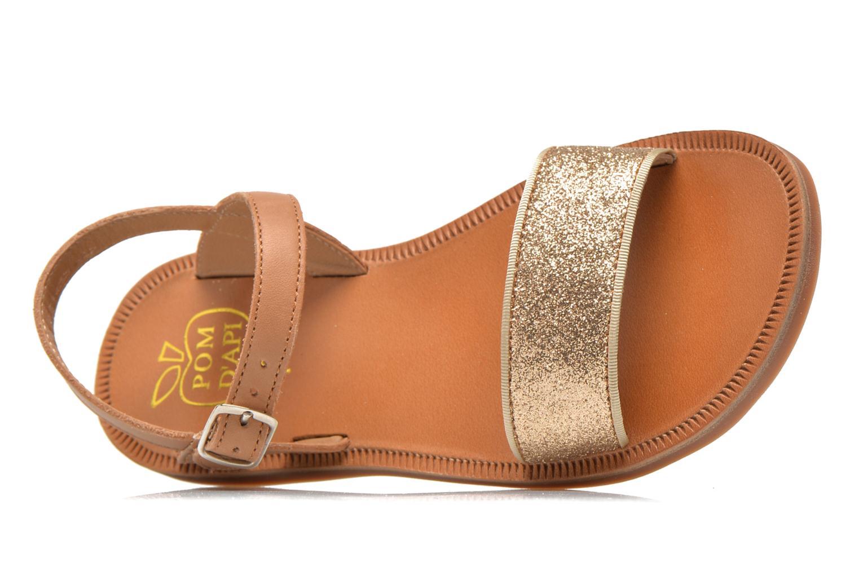 Sandales et nu-pieds Pom d Api Plagette Buckle Tao Marron vue gauche