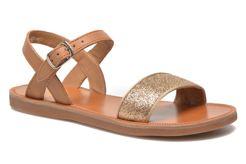 Sandales et nu-pieds Pom d Api Plagette Buckle Tao Marron vue détail/paire