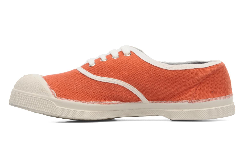 Deportivas Bensimon Tennis Colorpiping E Naranja vista de frente