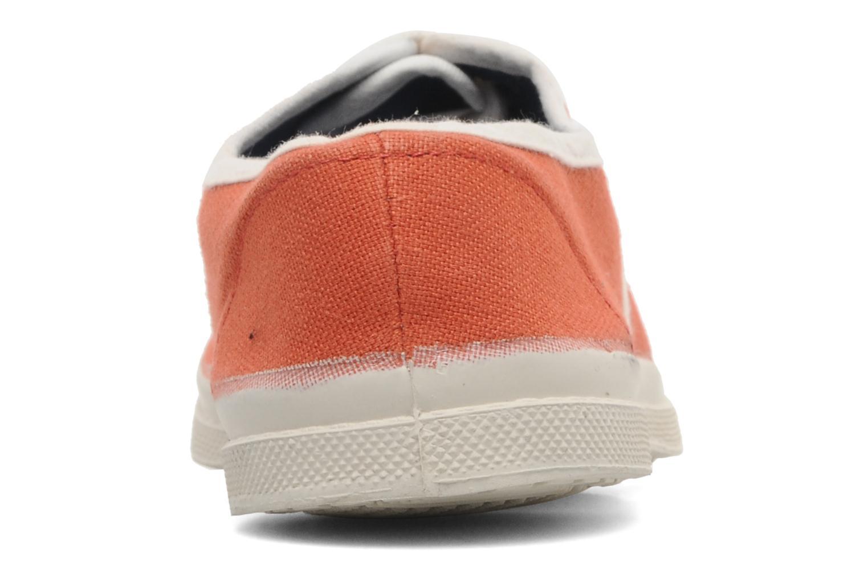 Baskets Bensimon Tennis Colorpiping E Orange vue droite