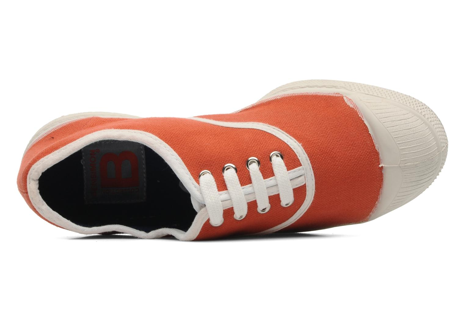 Trainers Bensimon Tennis Colorpiping E Orange view from the left
