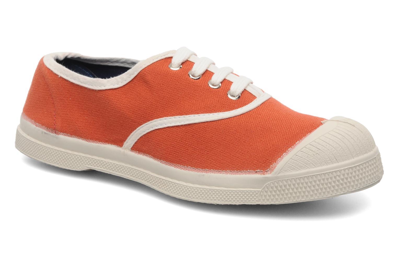 Deportivas Bensimon Tennis Colorpiping E Naranja vista de detalle / par