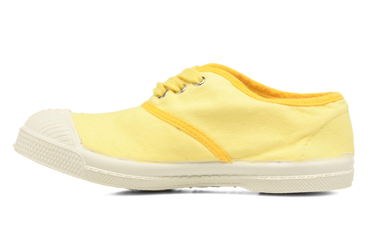 Deportivas Bensimon Tennis Colorpiping E Amarillo vista de frente