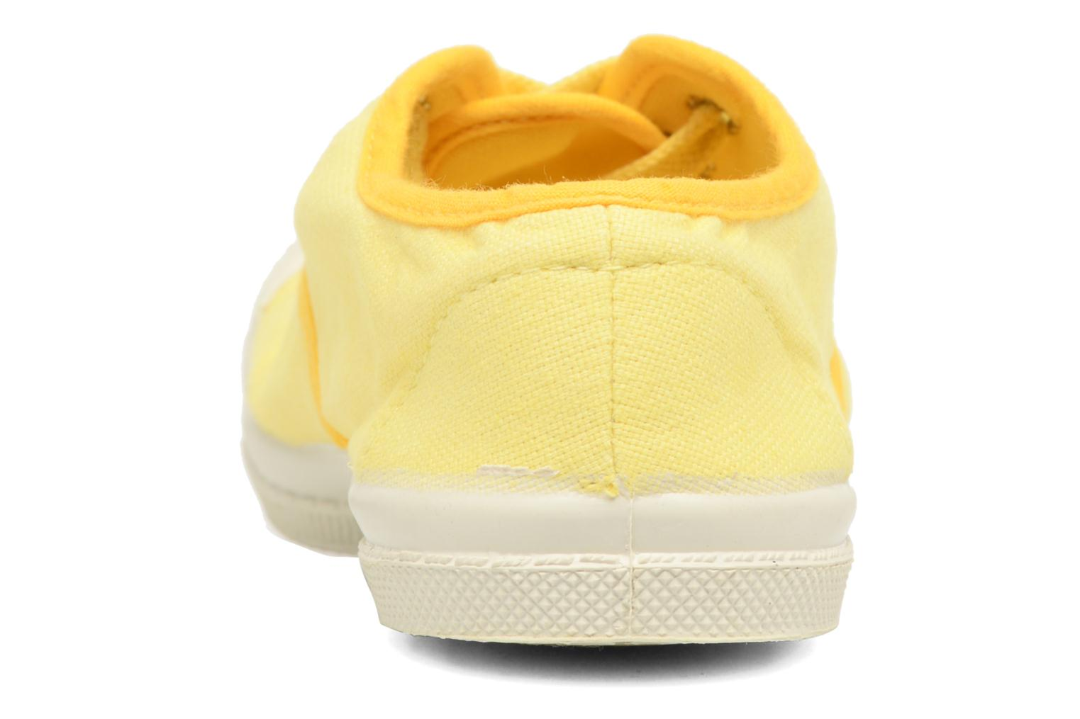 Trainers Bensimon Tennis Colorpiping E Yellow view from the right