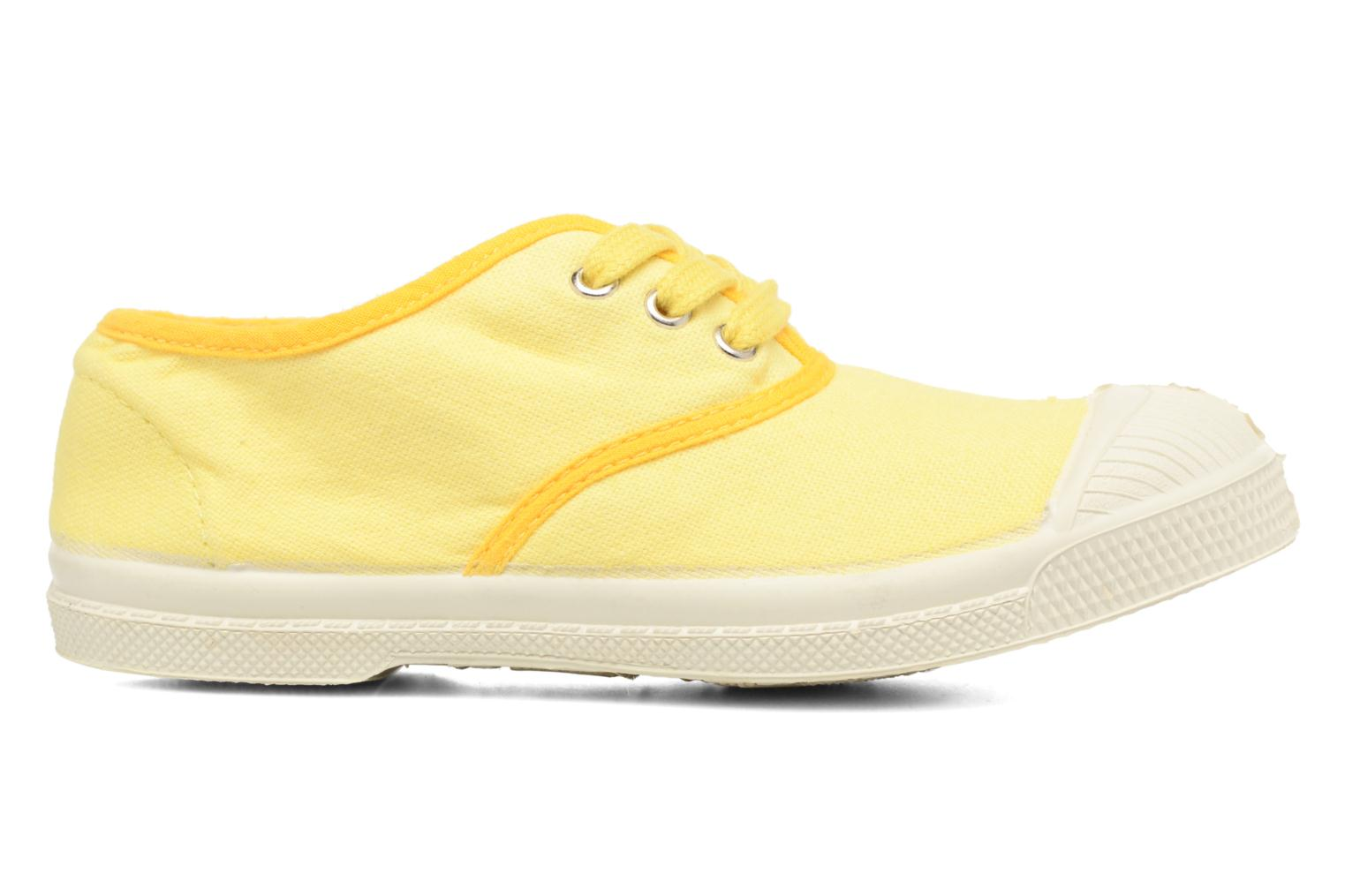 Baskets Bensimon Tennis Colorpiping E Jaune vue derrière