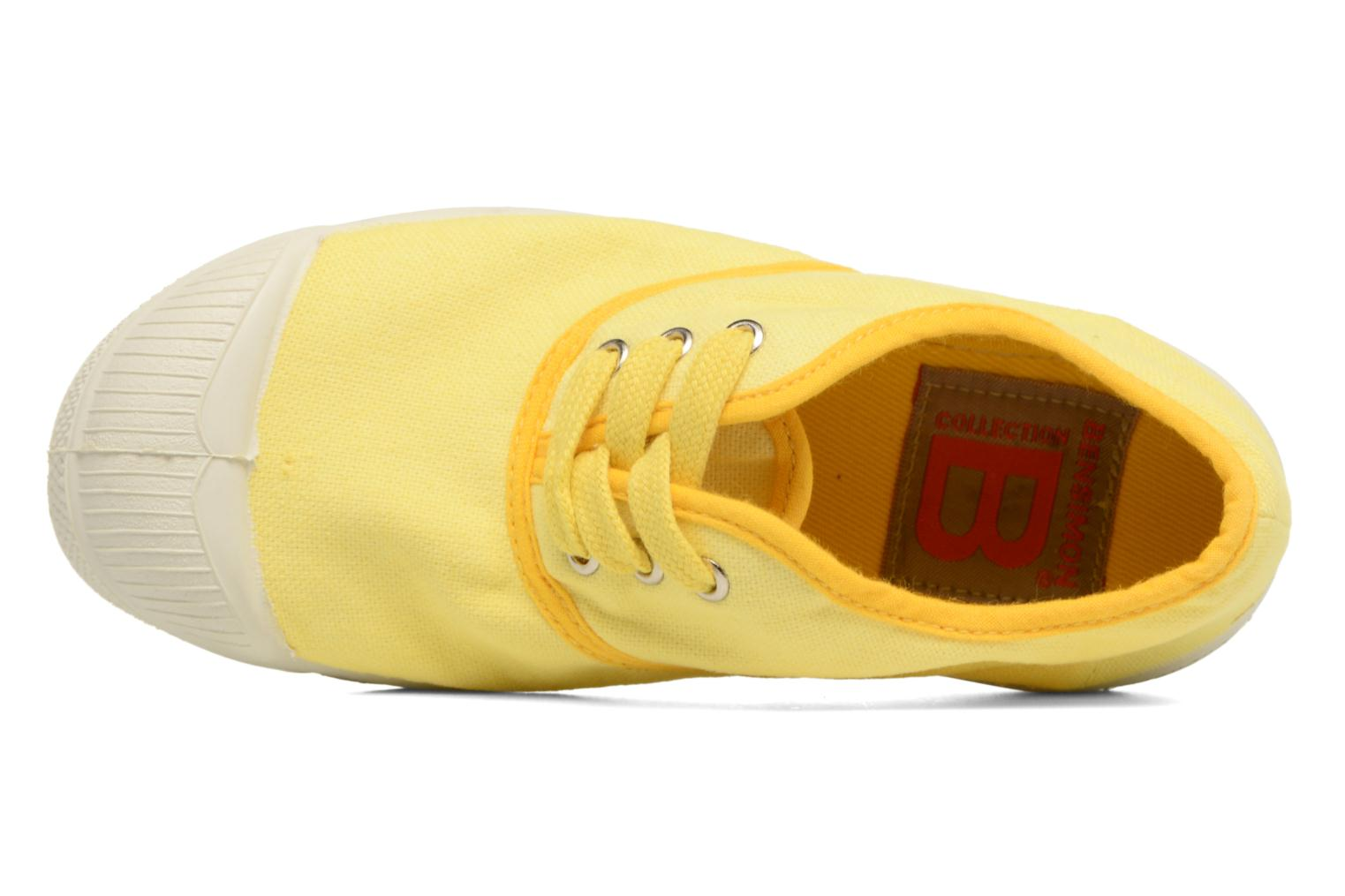 Baskets Bensimon Tennis Colorpiping E Jaune vue gauche