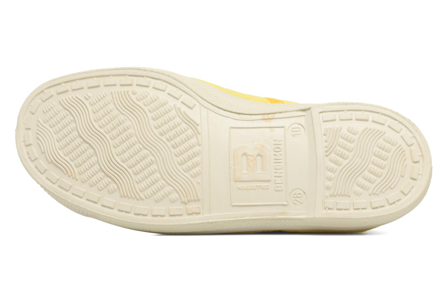 Baskets Bensimon Tennis Colorpiping E Jaune vue haut