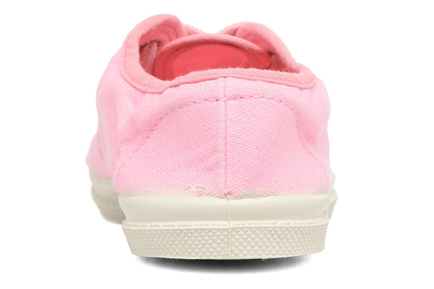 Trainers Bensimon Tennis Colorpiping E Pink view from the right