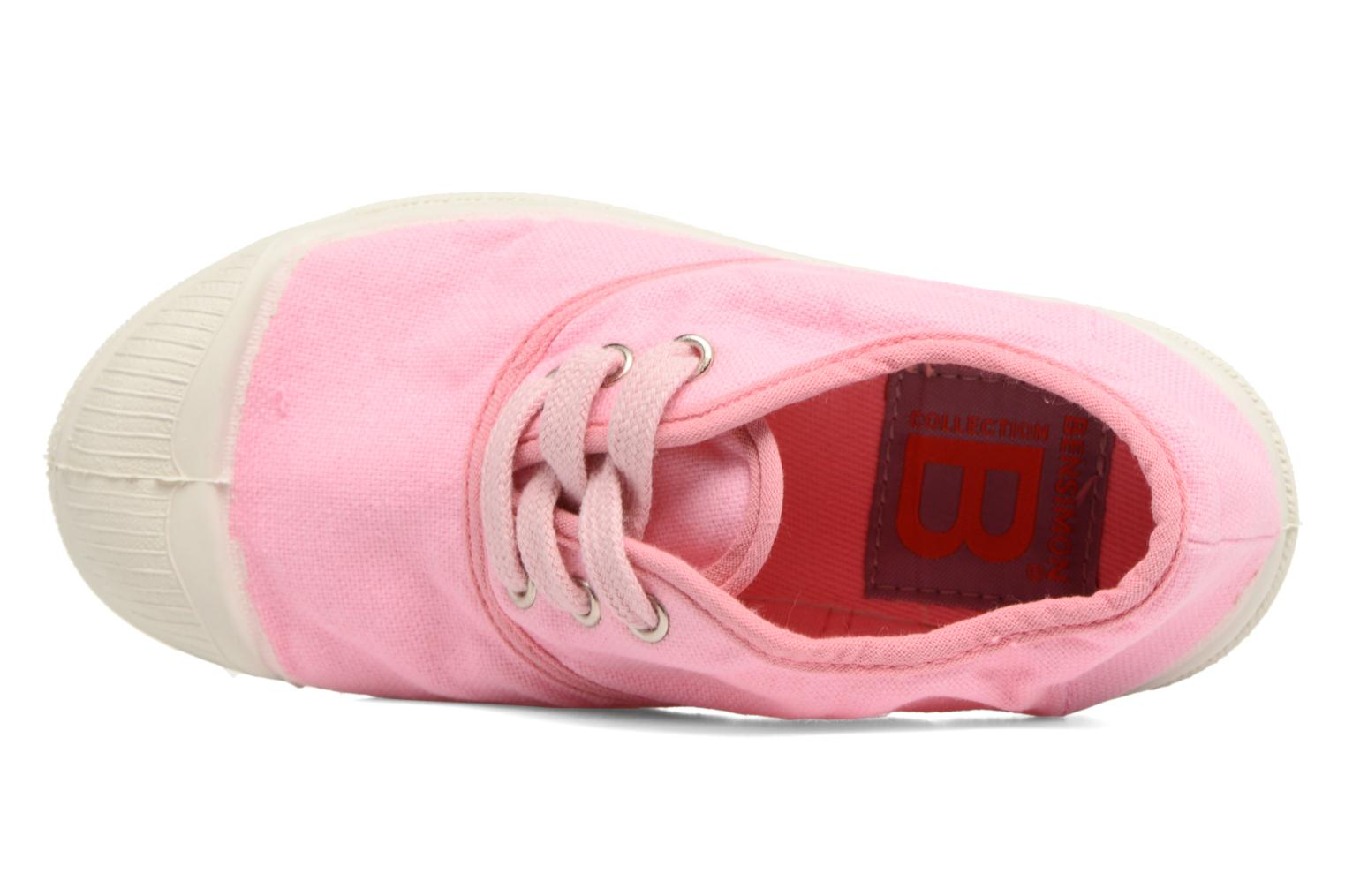 Trainers Bensimon Tennis Colorpiping E Pink view from the left