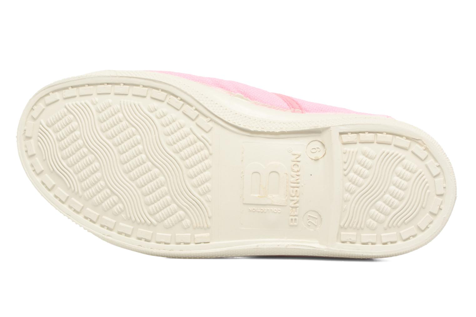 Trainers Bensimon Tennis Colorpiping E Pink view from above