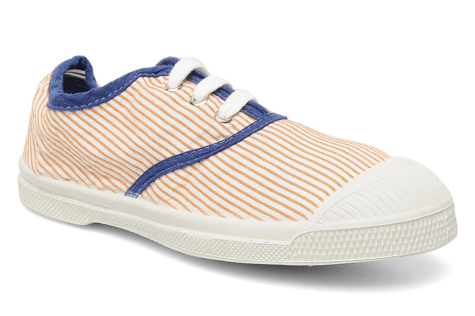 Sneakers Bensimon Tennis Rayures Souples E Orange detaljerad bild på paret