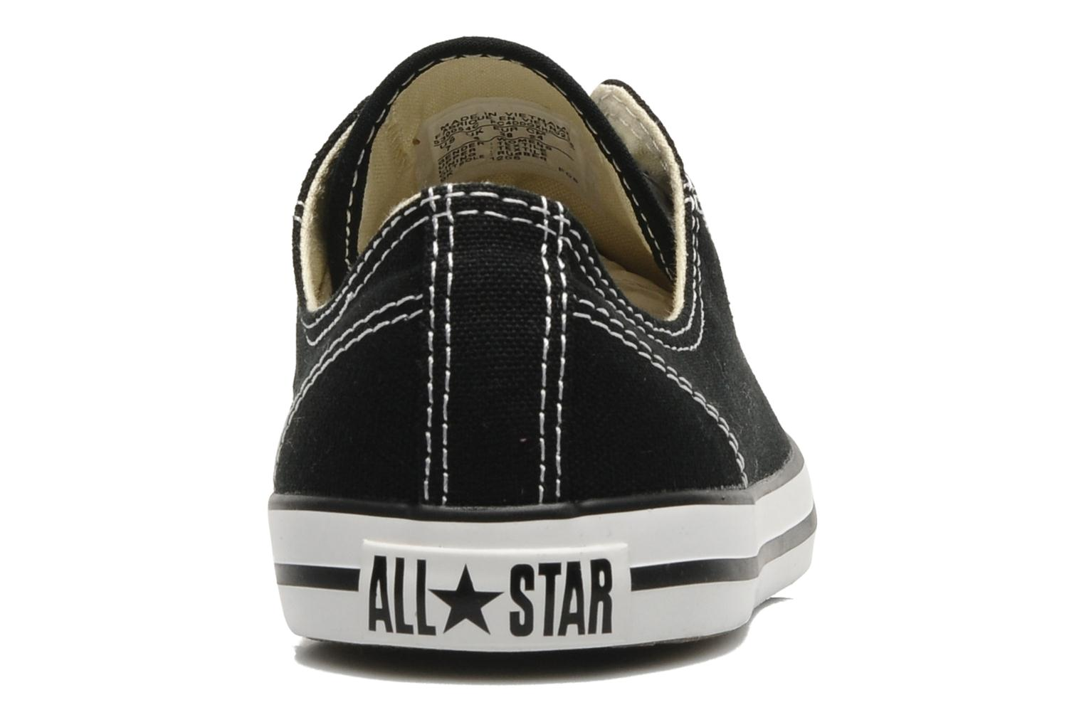 Trainers Converse All Star Dainty Canvas Ox W Black view from the right