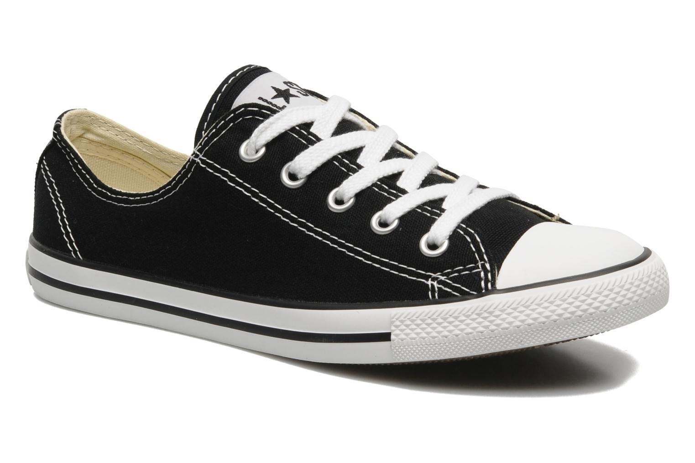 Zapatos de hombres y mujeres de moda casual Converse All Star Dainty Canvas Ox W (Negro) - Deportivas en Más cómodo