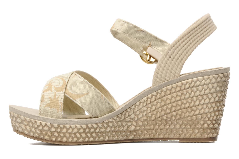 Marine Plat Sandal Fem Beige