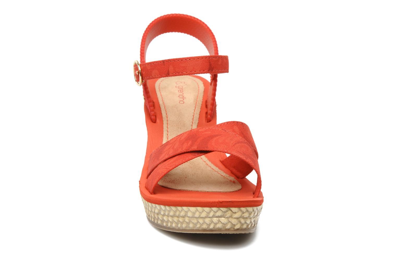 Sandales et nu-pieds Grendha Marine Plat Sandal Fem Rouge vue portées chaussures
