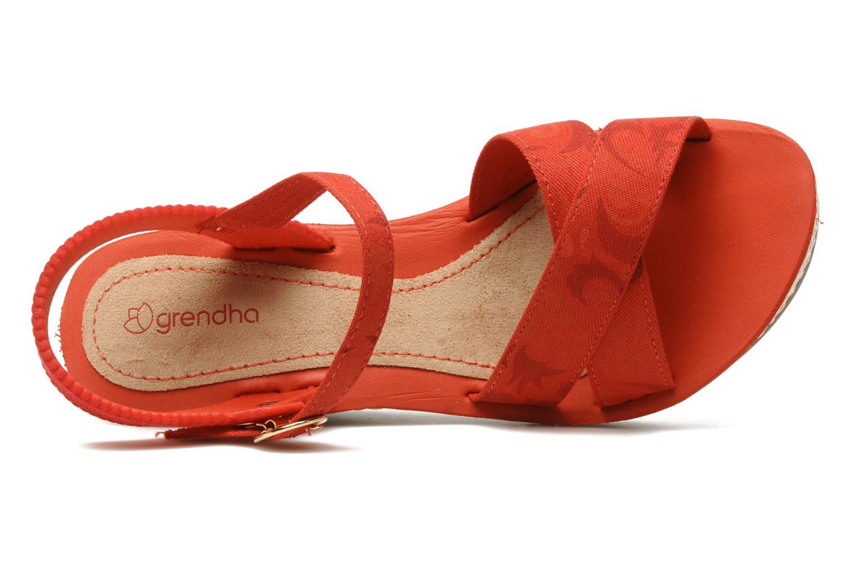 Sandales et nu-pieds Grendha Marine Plat Sandal Fem Rouge vue gauche