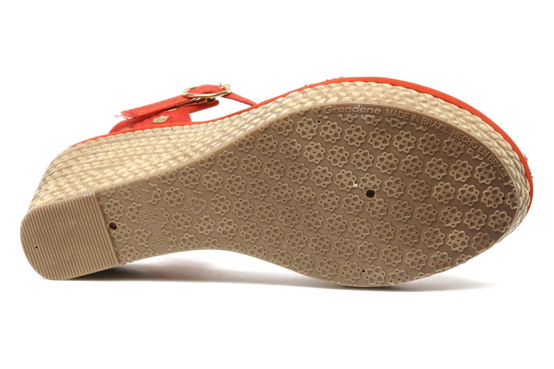 Marine Plat Sandal Fem Rouge