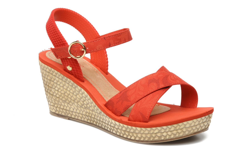 Sandales et nu-pieds Grendha Marine Plat Sandal Fem Rouge vue détail/paire