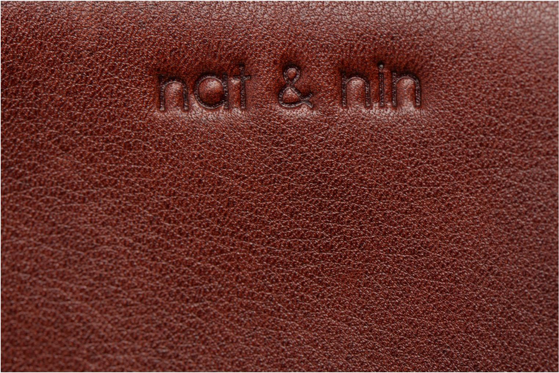 Petite Maroquinerie Nat & Nin Soly Bordeaux vue derrière