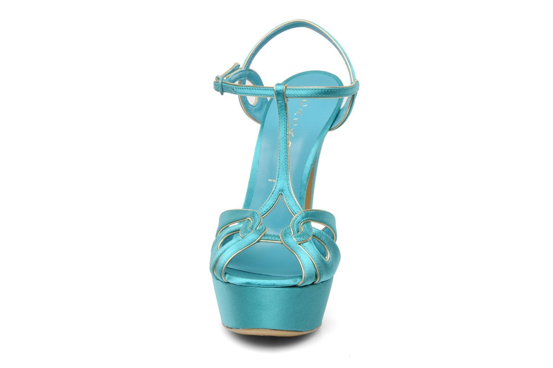 Sandalen Casadei Bibiana blau schuhe getragen
