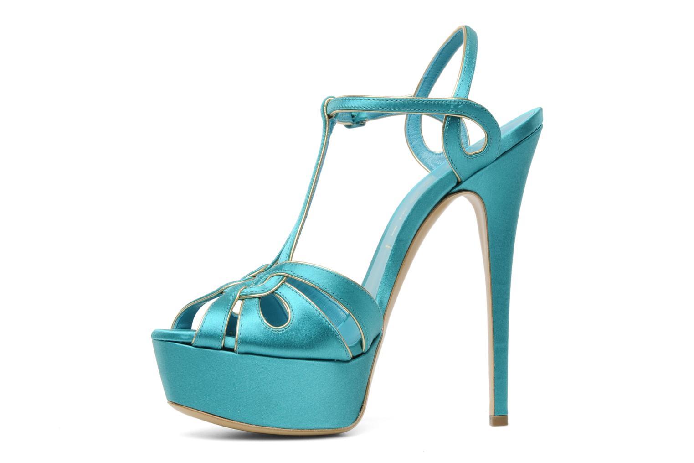 Sandalen Casadei Bibiana blau ansicht von vorne