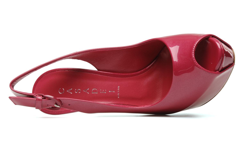 Sandales et nu-pieds Casadei Flaminia Rose vue gauche