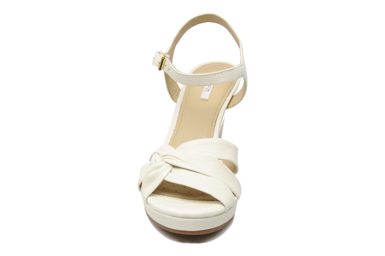 Sandalen Geox D SIBILLA S. M weiß schuhe getragen