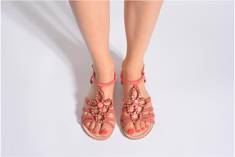 Sandales et nu-pieds Geox D SHANA B Noir vue bas / vue portée sac