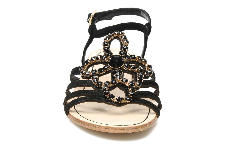 Sandalen Geox D SHANA B schwarz schuhe getragen