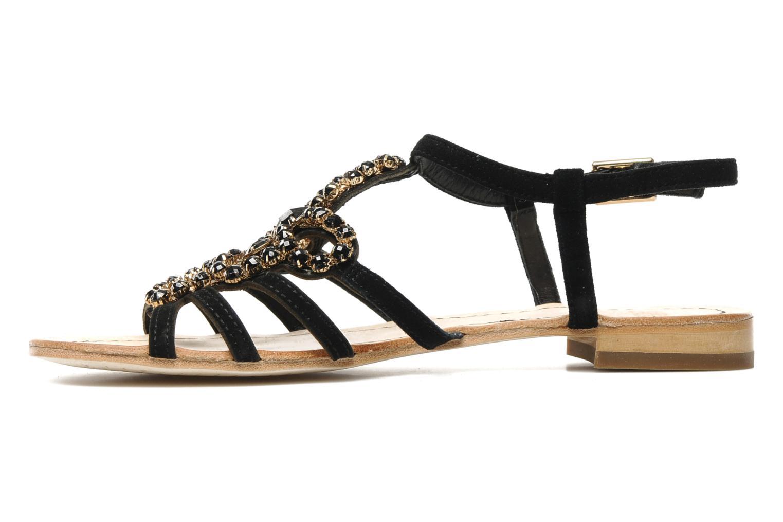 Sandales et nu-pieds Geox D SHANA B Noir vue face