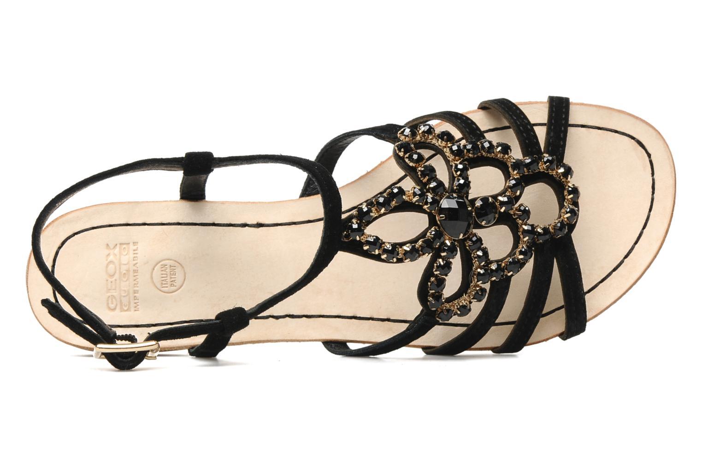 Sandales et nu-pieds Geox D SHANA B Noir vue gauche