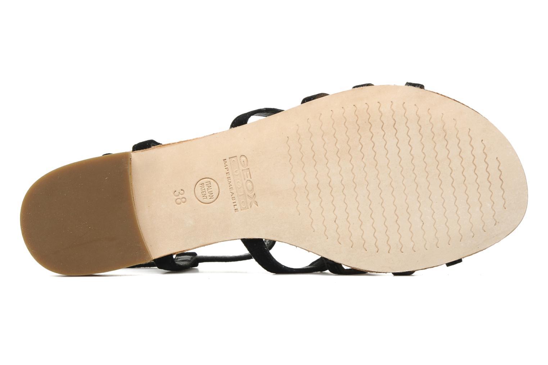 Sandales et nu-pieds Geox D SHANA B Noir vue haut