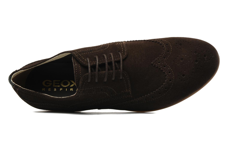 Chaussures à lacets Geox U YALE M Marron vue gauche
