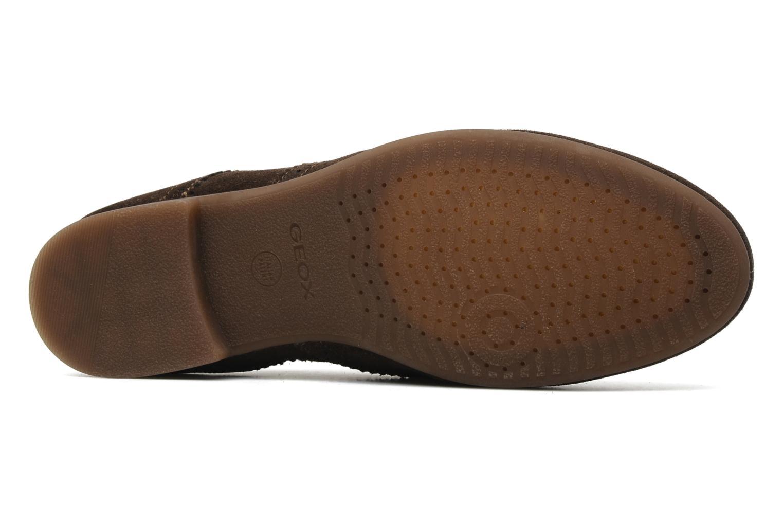 Chaussures à lacets Geox U YALE M Marron vue haut