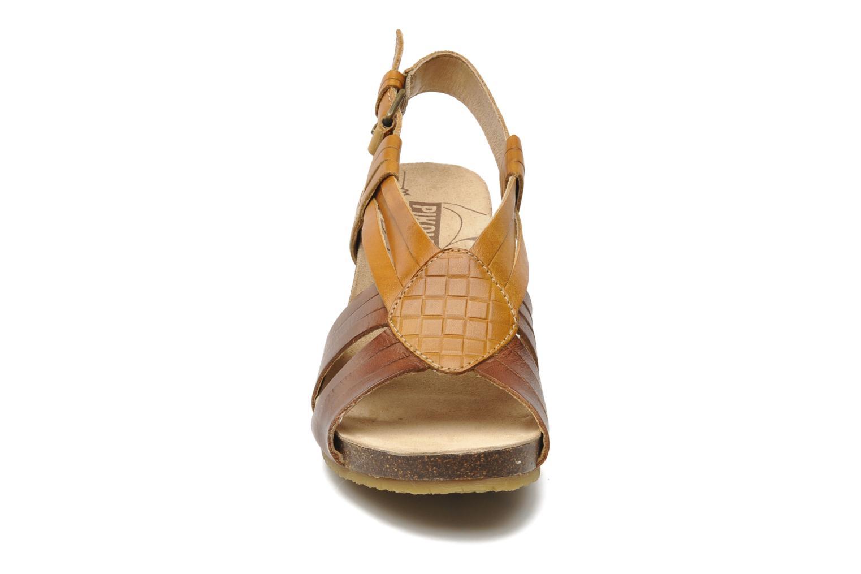 Sandalen Pikolinos Benissa 9320 braun schuhe getragen