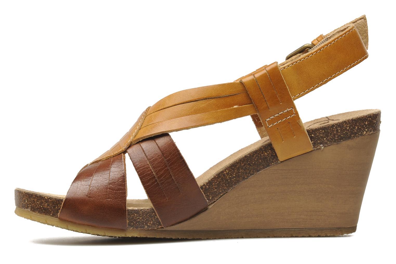 Sandales et nu-pieds Pikolinos Benissa 9320 Marron vue face