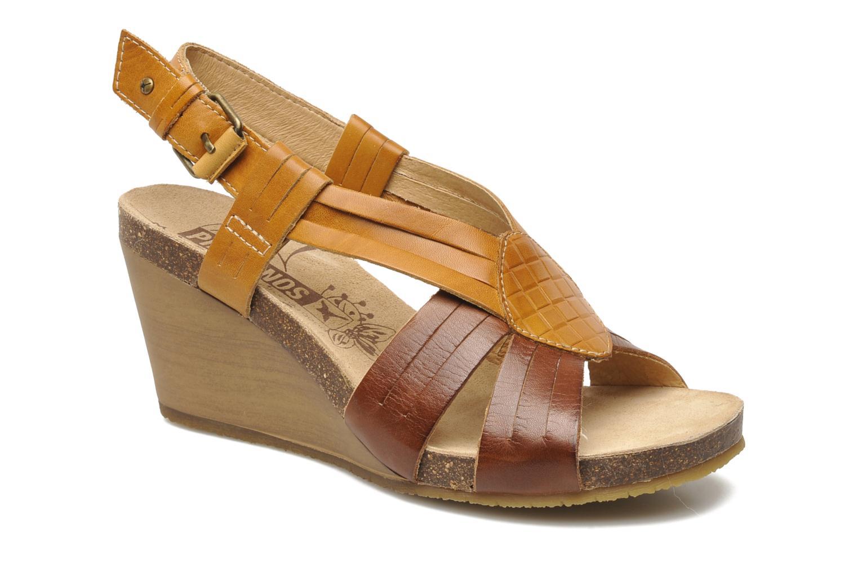 Sandales et nu-pieds Pikolinos Benissa 9320 Marron vue détail/paire