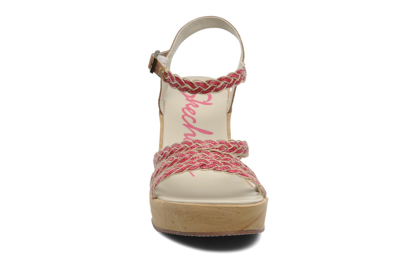 Sandales et nu-pieds Skechers Peek A Boo 38229 Rose vue portées chaussures